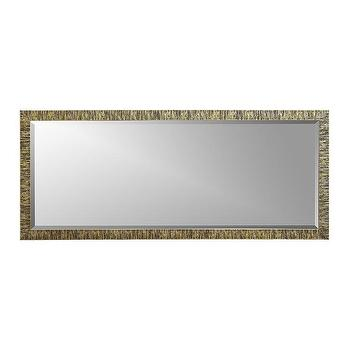 Champagne gold birch rectangular wall mirror for Gold frame floor mirror