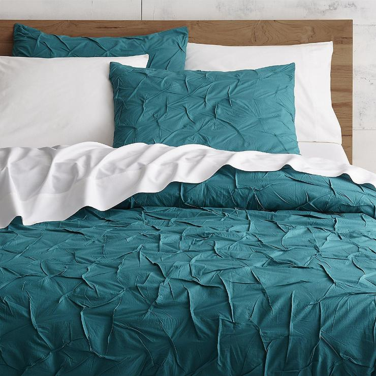 Organic Cotton Pintuck Duvet Cover Shams Oceania