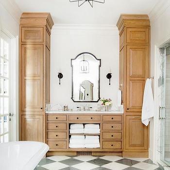 Golden Oak Vanity Cabinets Design Ideas