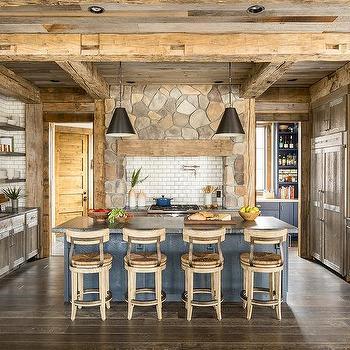 Rustic Stone Cooktop Tiles Design Ideas