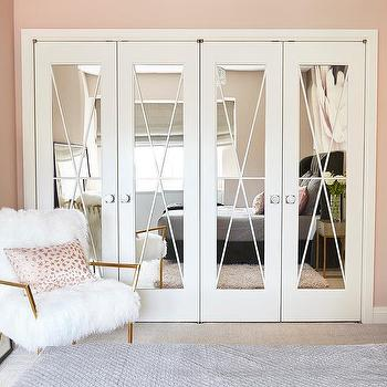 X Trim On Mirrored Closet Doors Design Ideas