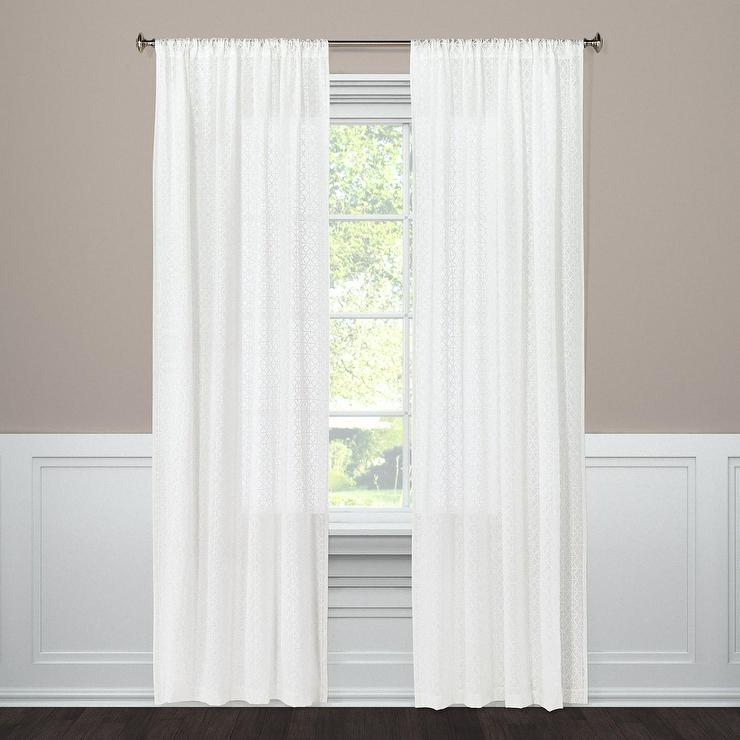 White Sheer Linen Window Panel