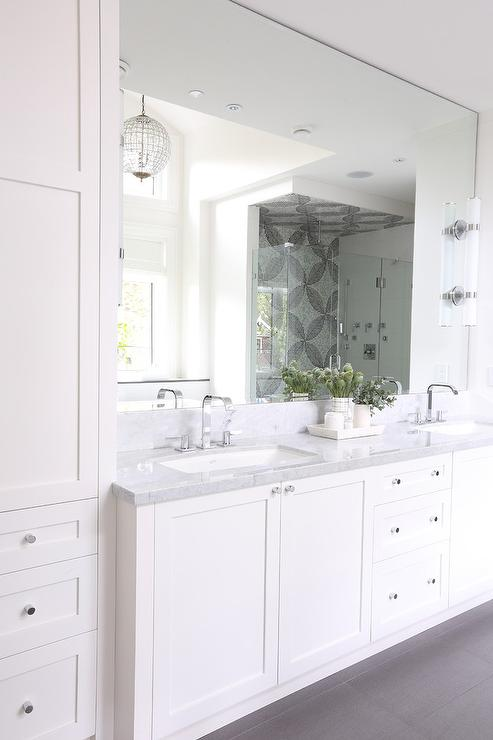 Bath Vanity Linen Cabinets Design Ideas