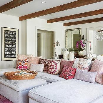 Gray And Purple Living Room Modern Living Room