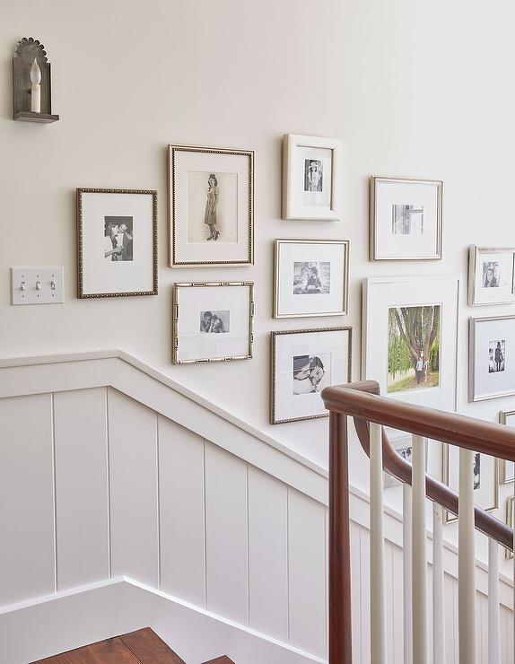 Shiplap Staircase Trim With Photo Wall