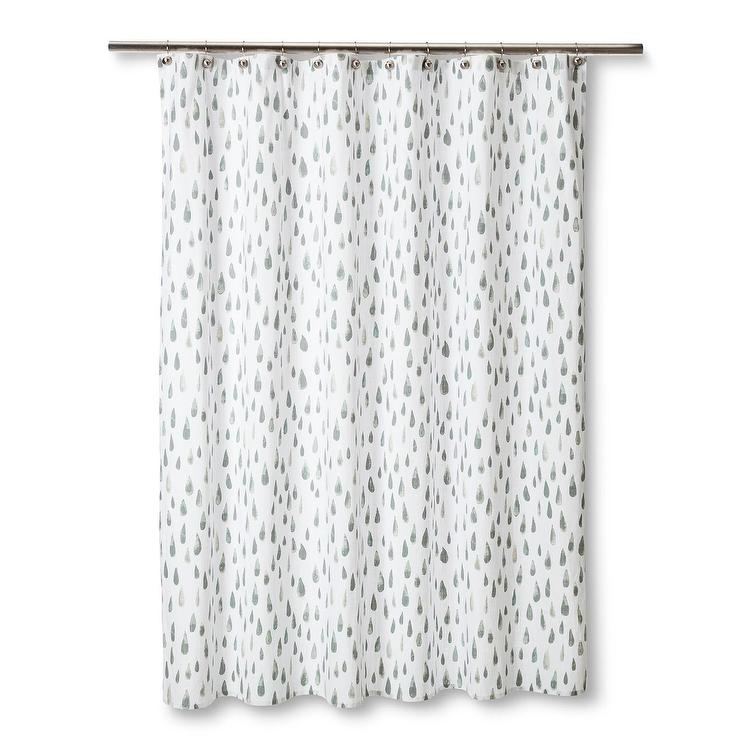 Watercolor Raindrops Shower Curtain