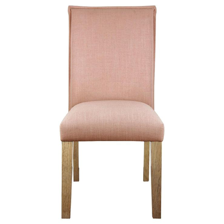 Blush Linen French Seam Dining Chair