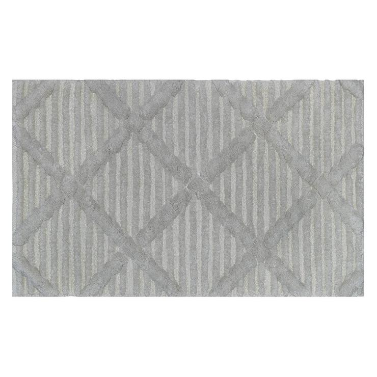 Gray Diamond Sculpted Stripe Bath Rug - Gray Whale Bath Rug - Products, Bookmarks, Design, Inspiration And