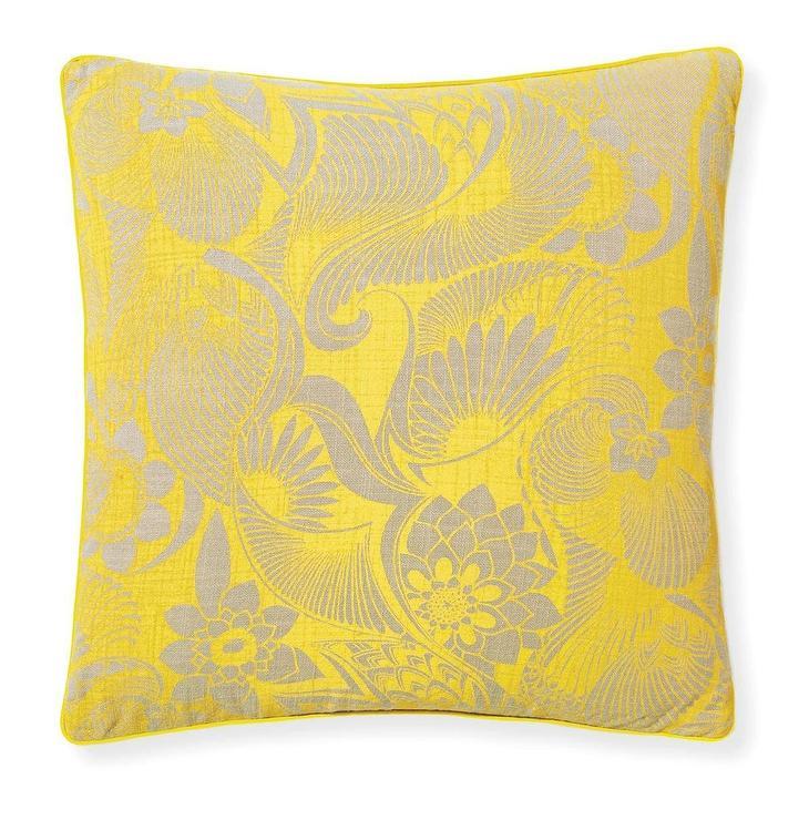 4bb579db22b207 Aubrey Sunshine Yellow Floral Pillow