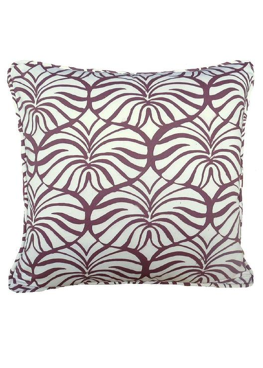 Gray Square Floral Toss Pillow