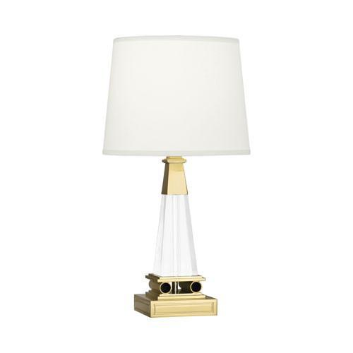 Brass acrylic table lamp darius brass acrylic table lamp aloadofball Image collections