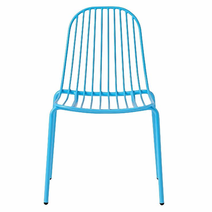 sc 1 st  Decorpad & Mini Resonate Blue Metal Cage Kids Chair