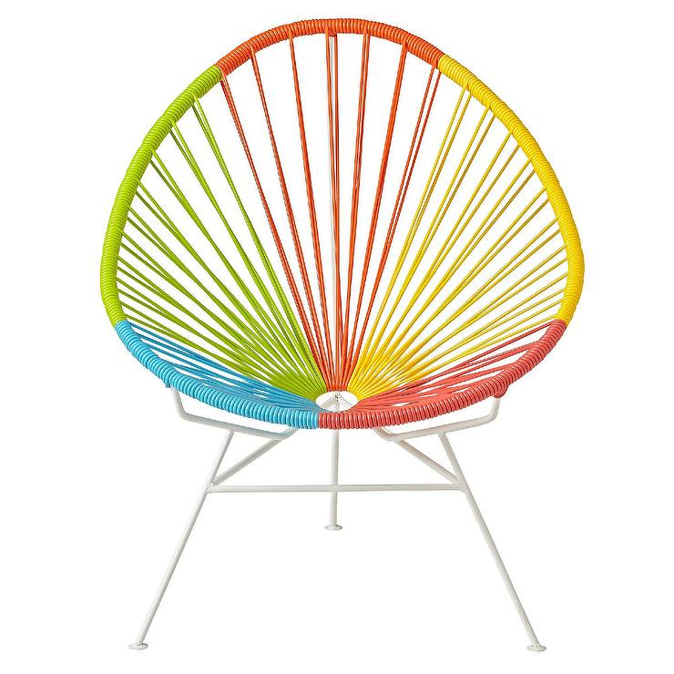 Pleasant Acapulco Rainbow Woven Kids Chair Gmtry Best Dining Table And Chair Ideas Images Gmtryco