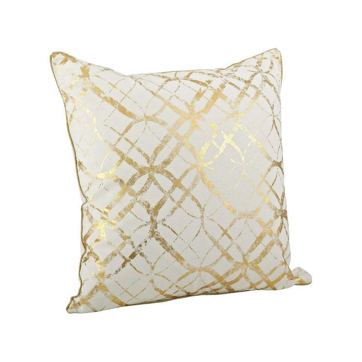 inch ireland by pillows throw x pillow gold pin coast white golden kathy nourison