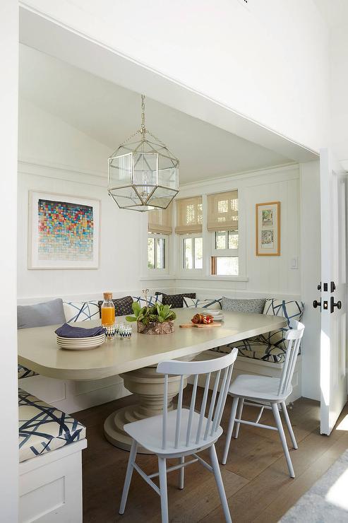 U Shaped Banquette Cottage Dining Room Anne Hepfer