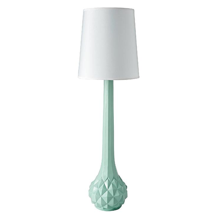 Genie Faceted Green Floor Lamp