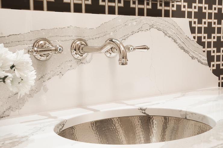 Oval Hammered Metal Vanity Sink