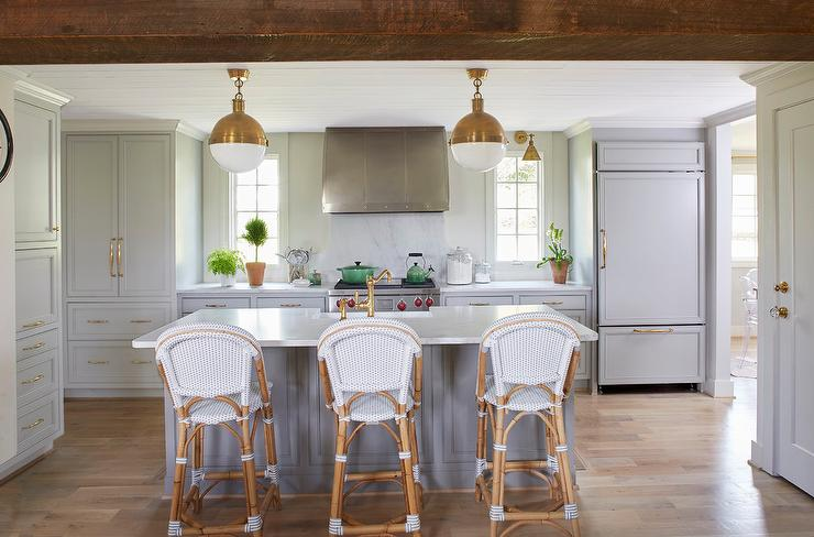 Light Gray Kitchen Cabinets Gold Hardware