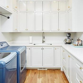 Stacked Laundry Room Cabinets
