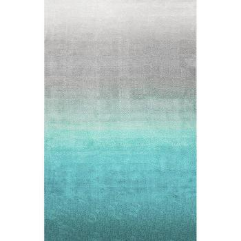 Color Pop Turquoise Border Rug