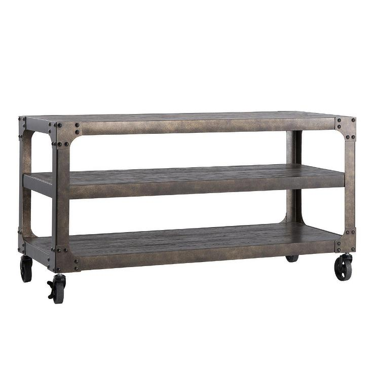 Tribecca Home Myra Vintage Industrial Modern Rustic Brown