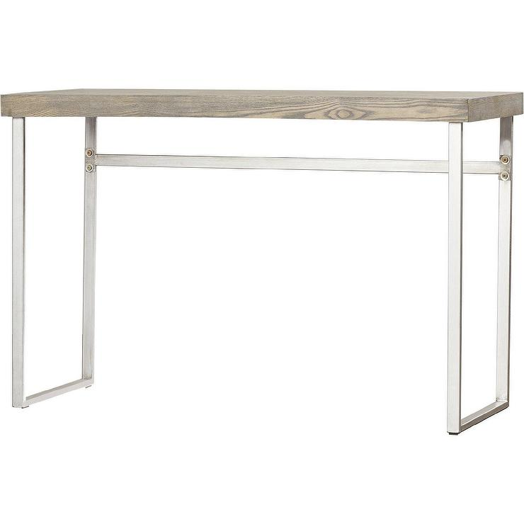 ponticus wood metal console table