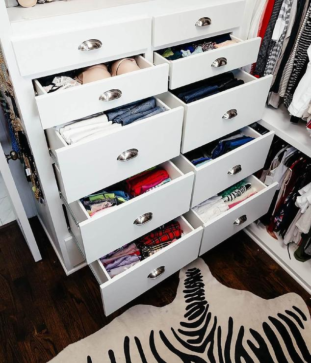 Closet Dresser Drawers With Cup Pulls