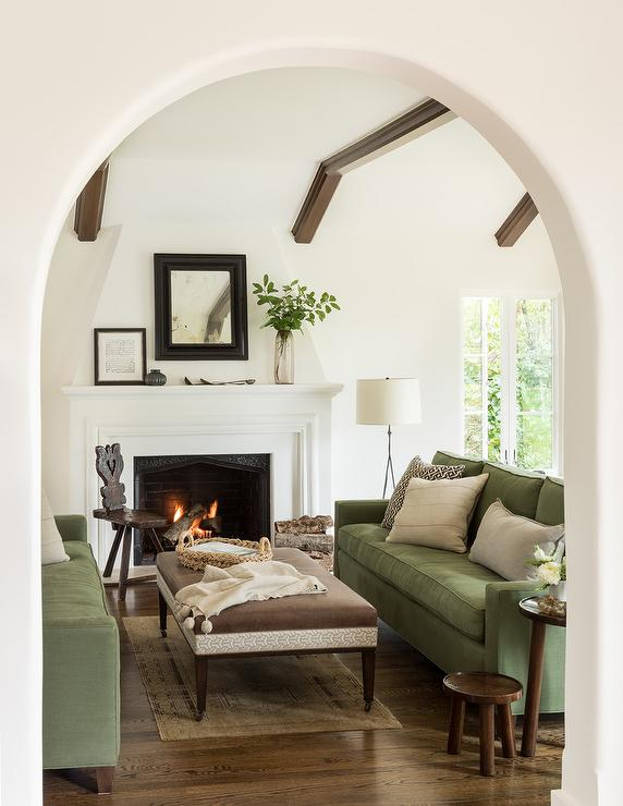 Brown And Green Mediterranean Living Room