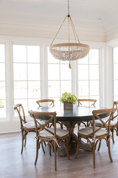 Beaded Chandelier Cottage Dining Room Morgan
