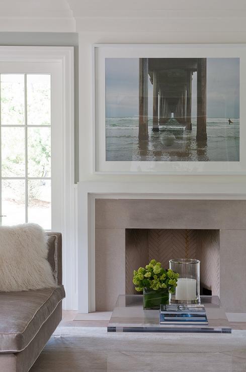 White fireplace mantel surround Floor To Ceiling Modern White Fireplace Mantel With Taupe Stone Surround Decorpad Modern White Fireplace Mantel With Taupe Stone Surround