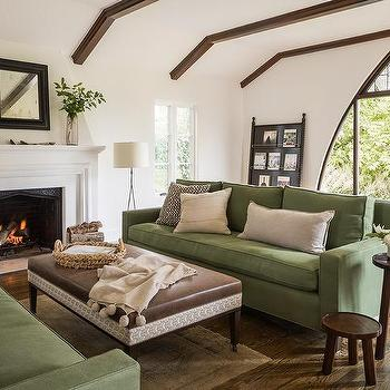 Brown And Green Mediterranean Style Living Room Design Ideas