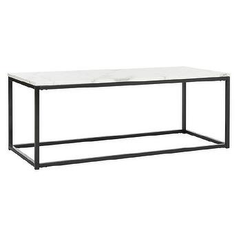 West Elm Box Frame Coffee Table Look for Less