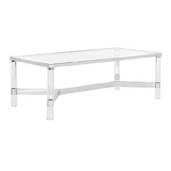 acrylic coffee table - look 4 less and steals and deals.