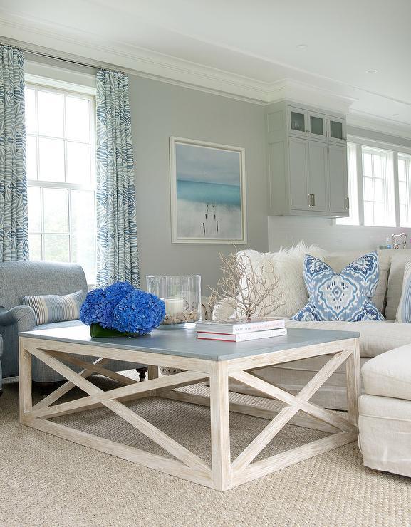 Living Room Framed Beach Art Design Ideas