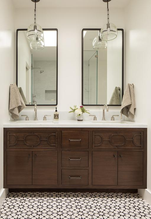 Industrial Bath Vanity Mirror with Shelf - Transitional