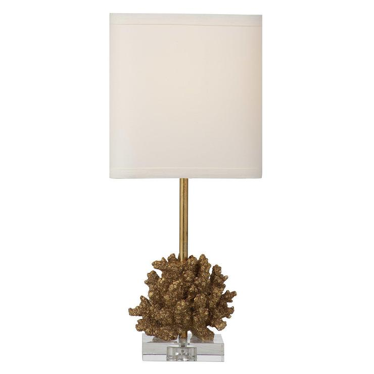 Robertson Brass Coral Table Lamp