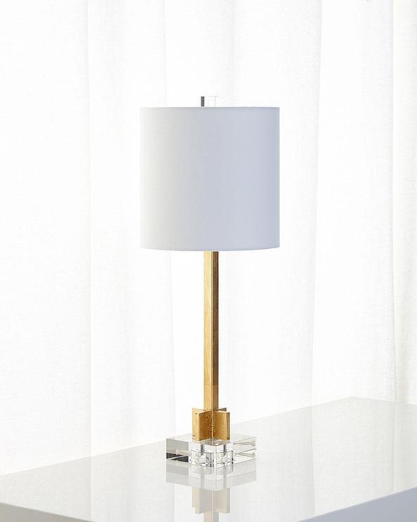 abita gold leaf crystal table lamp. Black Bedroom Furniture Sets. Home Design Ideas