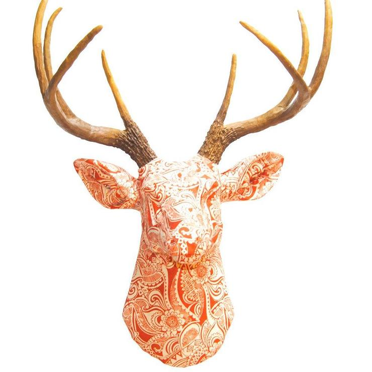 Faux Taxidermy Fabric Deer Head Wall Decor