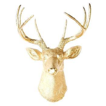 Faux Taxidermy Fabric Deer Head Wall Decor