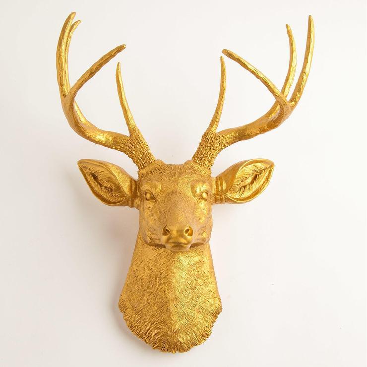 The Franklin Gold Metal Deer Wall Decor