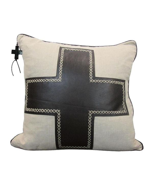 faux pillow brown leather insert down hoops feather with pillows