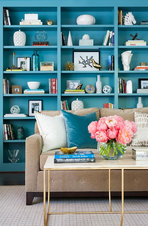 Brown And Turquoise Living Room Contemporary Living