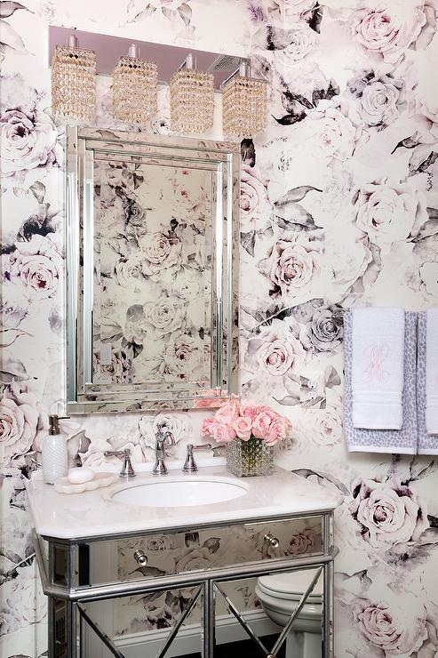 'view full size' from the web at 'https://cdn.decorpad.com/photos/2017/07/26/girly-bathroom-pink-roses-wallpaper.jpg'
