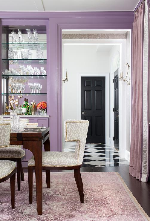 Dining Room in Shades of Purple - Contemporary - Dining Room
