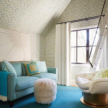 White Tufted Swivel Family Room Chair Design Ideas