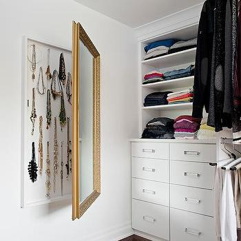 Hidden Jewelry Cabinet Behind Mirror