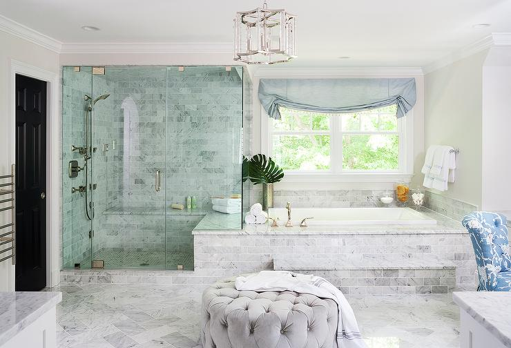 blue and gray master bath accents transitional bathroom. Black Bedroom Furniture Sets. Home Design Ideas