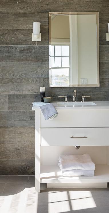 charming spa bathroom accessories | Guest Bathroom with Shiplap - Transitional - Bathroom