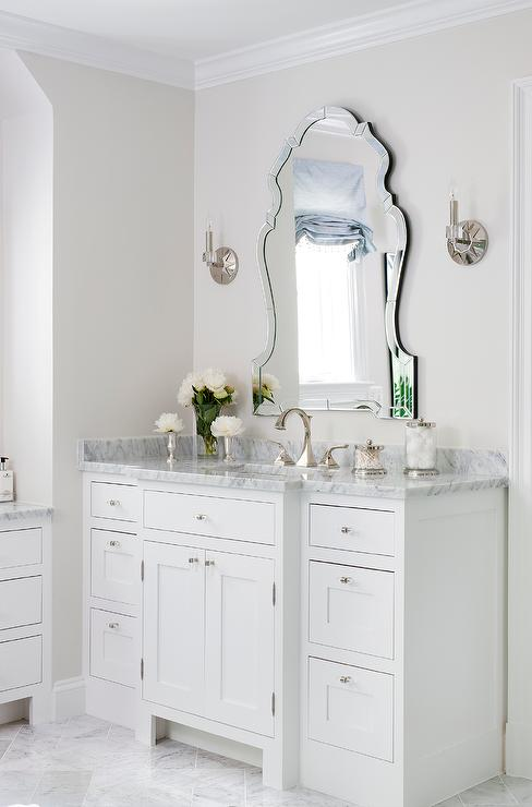 Superb Elegant Vanity Mirror With White Bath Vanity Transitional Download Free Architecture Designs Aeocymadebymaigaardcom