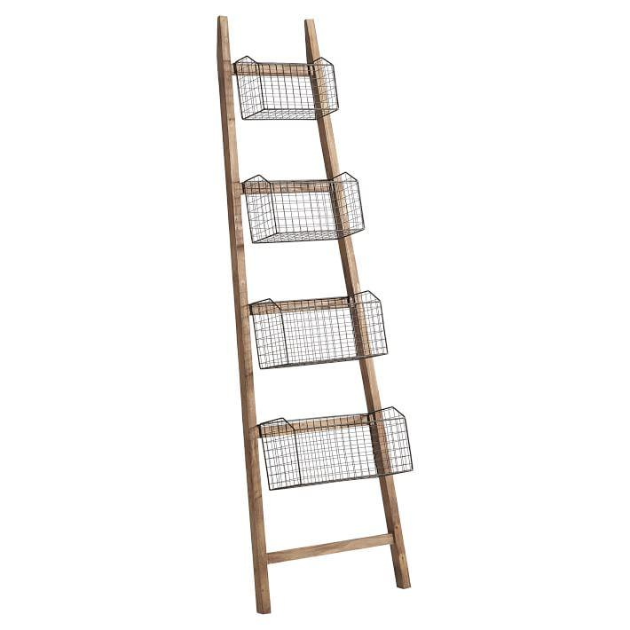 Silver Wire Mesh Storage Standing Shelving Rack